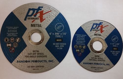 "6 x .040 x 7/8"" T-1 Cutting Wheel"