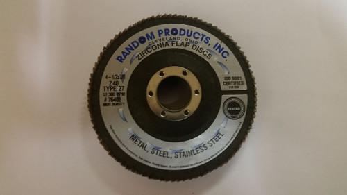 """4 1/2 x 7/8"""" 36 Grit Zirc Jumbo Flap Disc"""