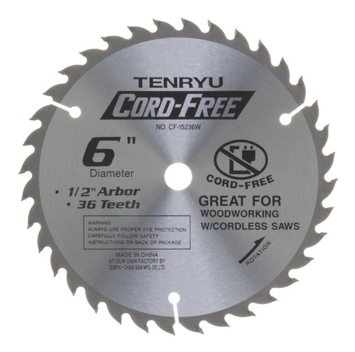 "Tenryu 6"" 36T Carbide Tipped Saw Blade"