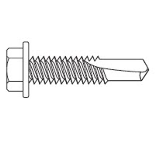 """#12 - 24 x 7/8"""" Hex Washer Head Tek-4 Screws (4M/Box)"""