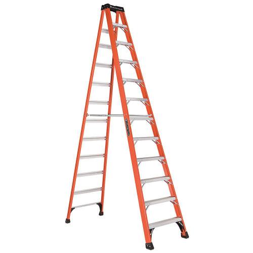 Fiberglass Step Ladder Heavy Duty 375# - 12'