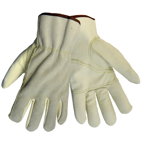 Grain Cowhide Leather Driver's Gloves