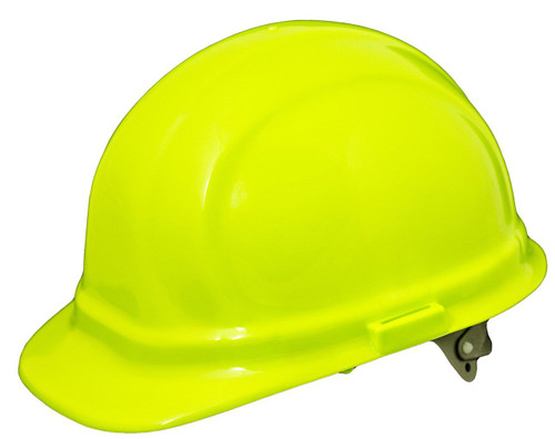 Neon 6-pnt. Ratchet Hard Hat