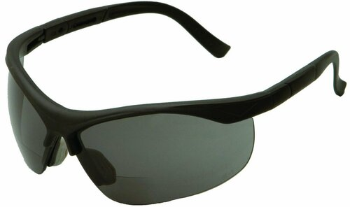 ERB +2.0 Bifocal Safety Glasses- Black/Smoke