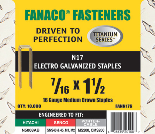 Fanaco 7/16 X 1 1/2  Staple