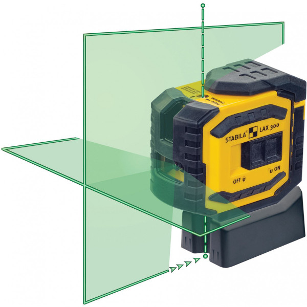 Stabila LAX 300G Green Beam Cross Line Plus Dots Laser Level 03185