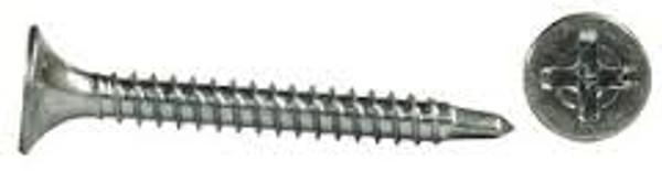 """#6 x 1 1/4"""" Phillips Bugle Head Zinc Self-Drill Screws (8,000/box)"""