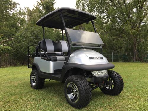 Club Car Precedent 4 Passenger Lifted Silver Golf Cart-18L-LSIL 18L-LSIL