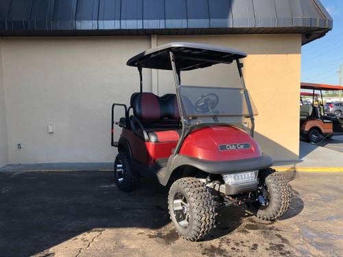 Club Car Precedent 4 Passenger Lifted Burgundy Golf Cart-18L-BURG