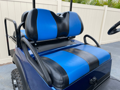 Viper Blue with Black Value Seat Covers Golf Cart Custom Seats