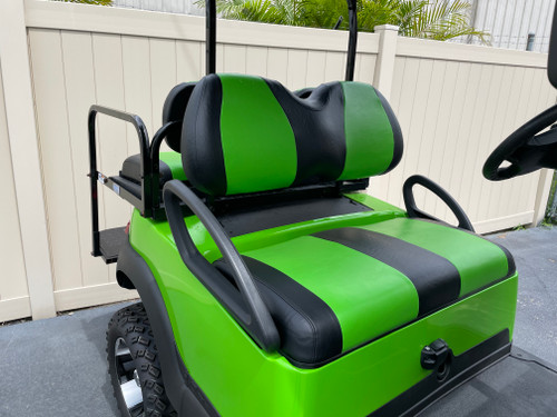 Lime Green and Black Value Seat Covers Golf Cart Custom Seats