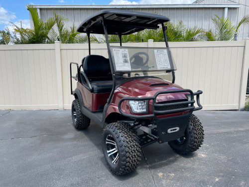Lexus Burgundy Club Car Precedent Custom Golf Cart