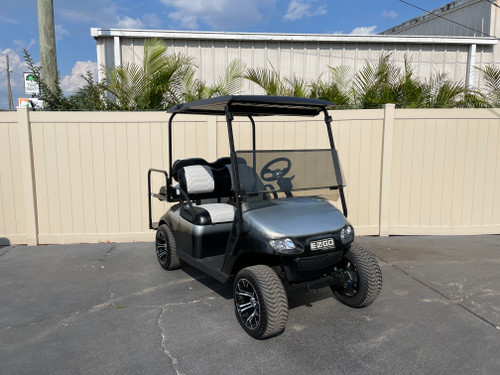 Diamond Black and Silver EZGO TXT Custom Golf Cart