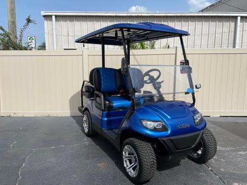 Custom Viper Blue ICON i40 Custom Golf Cart