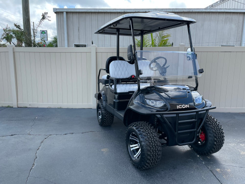 Black With Silver Roof ICON i40L Custom Golf Cart