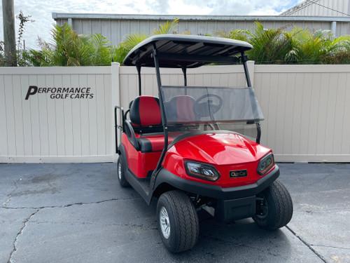 Club Car Tempo 4 Passenger Red Golf Cart-#2475