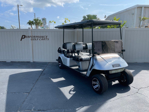 EZGO TXT 6 Passenger Silver Golf Cart-#2318A