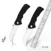 Enlan EL03D Half tooth Folding Knife 8Cr13Mov Blade G10 Handle Gift Knives pocket fruit knives outdoor camping hunting EDC Tools