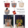 Women Tote Bags Black White Red Leopard Print Sunflower Women Shoulder Bags Fashion Shopping Weekend Travel Packages - 2in1 Set