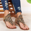 Women Leopard Sandals Lady Cross Border Anti-skid Fashion Style Flat Sandals Shoes