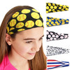 Women Softball Baseball Headband Hair Bands Yoga Fitness Sports Headscarf Game Gym Scrunchy Hair Bands