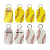 baseball hand sanitizer keychain bottles set