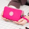 Women's Wallet Nylon Cloth Large Capacity Clutch Handbag Hand Holding Purse Coin Mobile Phone Purse Bag