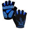 mens blue cycling gloves