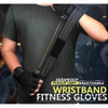 strong black wrist wrap weight lifting gloves