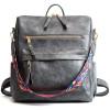 gray travel backpack