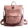 Pink leather handbags for girl