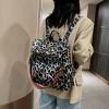 white  leopard shopping school travel bags
