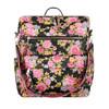 women's  flower leather backpack