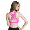 Fitness Sports Bra for Women Push Up Solid Cross Back Yoga Running Gym Training Workout Femme Padded Underwear Crop Tops