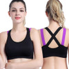 Sexy Sports Bra Top for Fitness Women Push Up Cross Straps Yoga Running Gym Femme Active Wear Padded Underwear Crop Tops