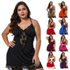 Womens Sling Deep V Lace Stitching Sexy Home Wear