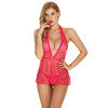 Womens Dots Lacy V-neck Babydoll  Sexy Intimate Apparel Lingerie