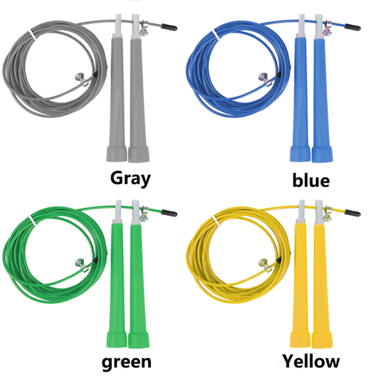 3M Jump Skipping Ropes Cable Steel Adjustable Fast Speed ABS Handle Jump Ropes