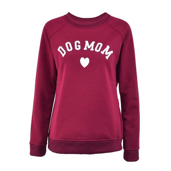 Dog Mom Women's Plus Velvet Long Sleeve Casual Sweatshirt