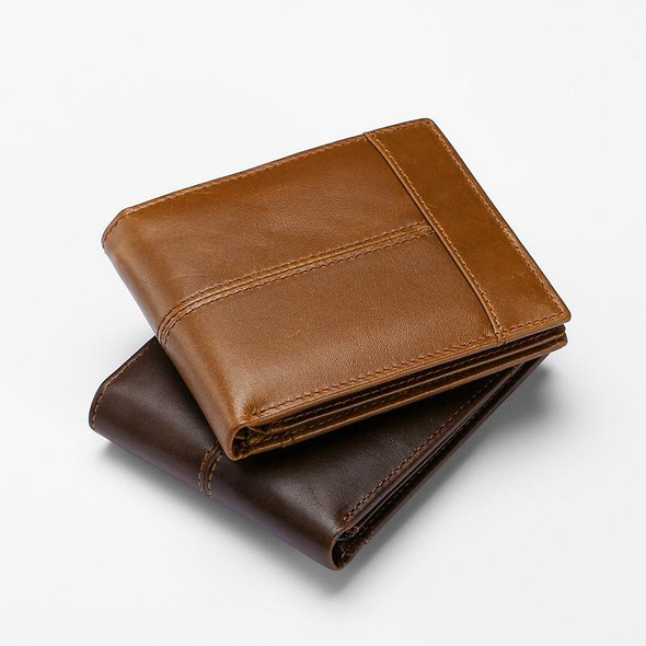 Men's Genuine Leather Bifold ID Credit Card Holder Wallet Purse