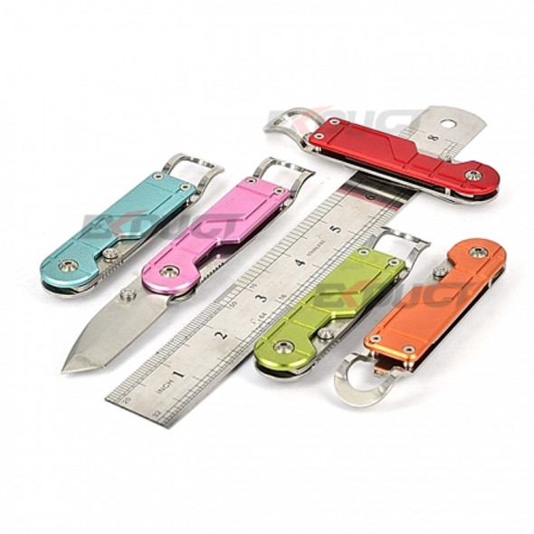 Sanrenmu SRM LP-617 EDC Tanto Blade Knife Multi Tools Bottle Opener with Wide Clip - Pink