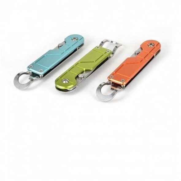 Sanrenmu SRM LO-617 EDC Tanto Blade Knife Multi Tools Bottle Opener with Wide Clip - Orange