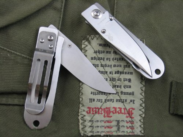 Sanrenmu SRM 701 Stainless steel EDC Pocket Knife w/ Money Clip & Lanyard Hole Frame Lock