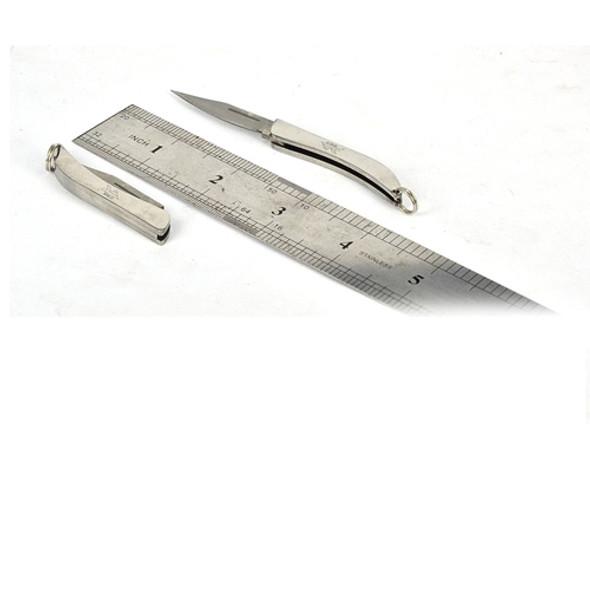 Sanrenmu SRM C97 Mini EDC Lightweight Stainless Steel Slip Joint Knife with Keyring