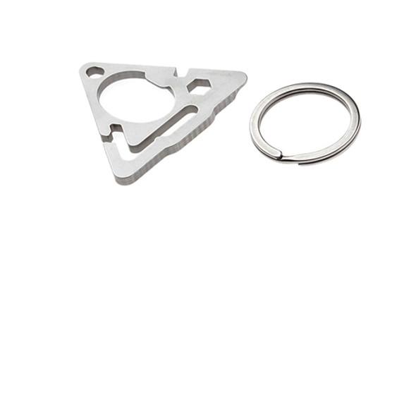 Sanrenmu SK012D Multi EDC Toolkit Pocket Screwdriver Tools Stainless Steel Keychain Wrench Bottle Opener Crowbar w Ring