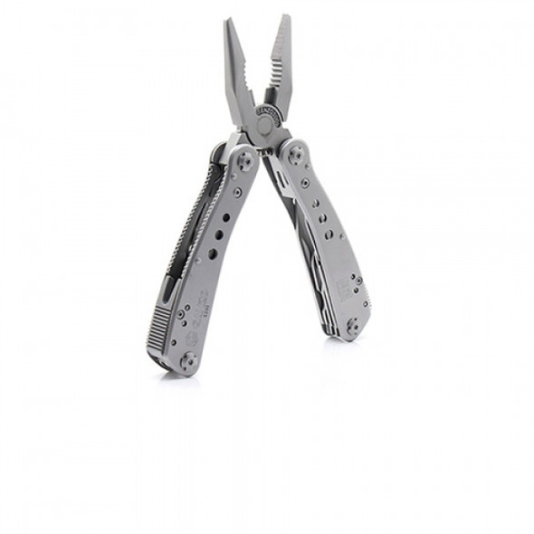 Ganzo G201 Silver Multi-functional Pliers with 25 in 1 Removable Bit-nozzles with Pouch & Box