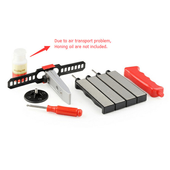 Exduct E0931D Outdoor Knife Sharpener 4 Stone Diamond Knife Sharpening System Kit