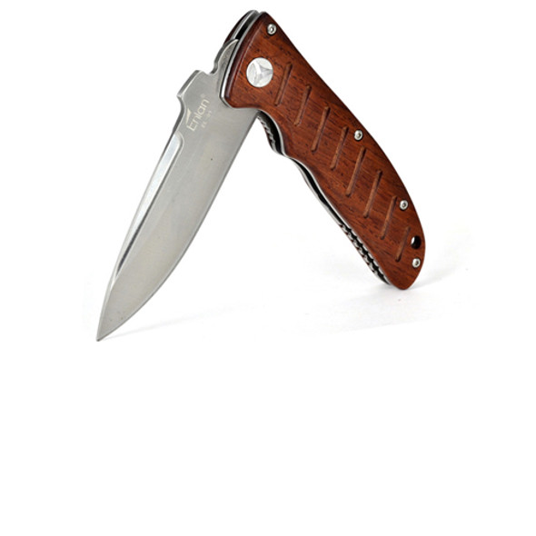 Enlan Bee EL01 EL01D Wooden Handle Pocket EDC Folding Knife Tool w/ Nylon Sheath