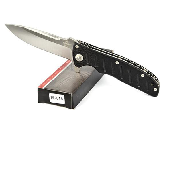 Enlan EL01 BEE EL01A Liner Lock Pocket Knife Stainless Steel Blade Black G10 Handle
