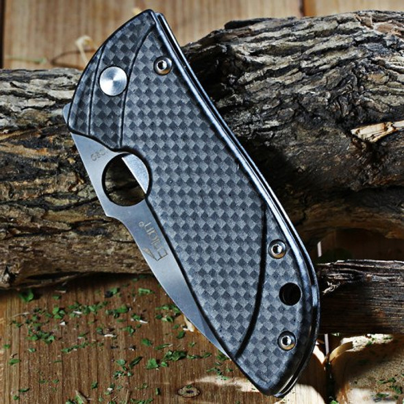 Enlan M020FH Aluminum Handle EDC Folding Knife Liner Lock Drop point Fine Edge Pocket Knives